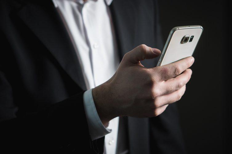Businessman, Smartphone, App